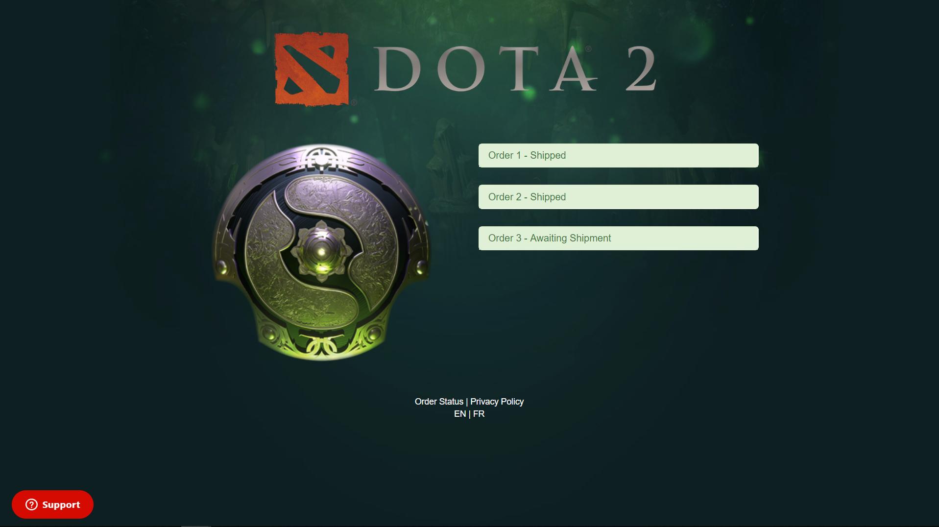 Has My Aegis or Roshan Shipped? – Official DOTA 2 Battle